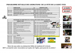 Programmation de la Saint-Yves 2019
