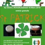 Meska Ceili Band au pub le SAXO à Rouen pour la Saint Patrick